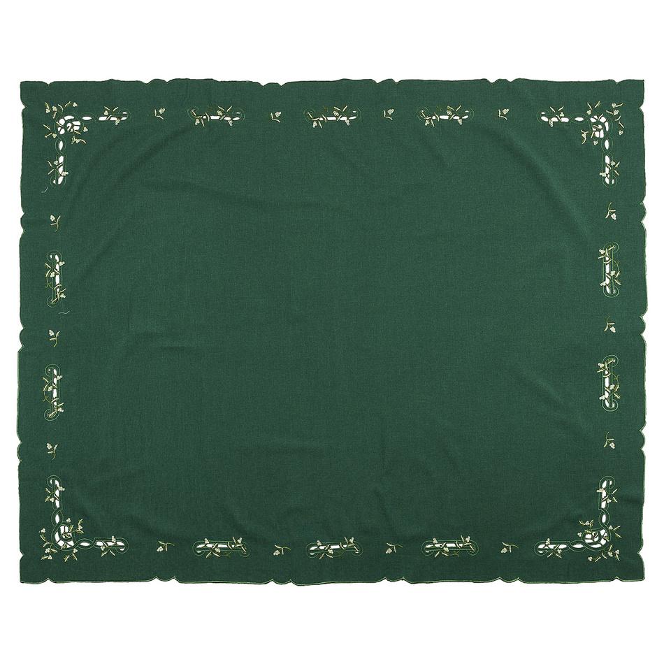 Forbyt Vianočný obrus imelo zelená, 120 x 140 cm