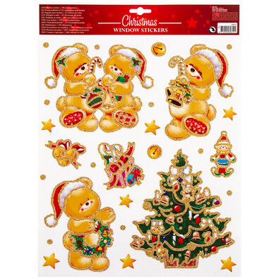 Dekoracja świąteczna na okno Traditions, złoty