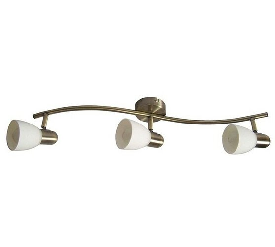 Nástěnné svítidlo Rabalux Soma 6308 bronzová/bílá, 3 světla