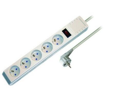 Solight Prodlužovací kabel s přepěťovou ochranou 5zásuvek délka 2 m bílý