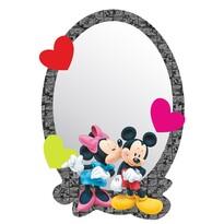 Samolepiace detské zrkadlo Mickey & Minnie, 15 x 21,5 cm