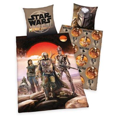 Bavlněné povlečení Star Wars Mandalorian, 140 x 200 cm, 70 x 90 cm