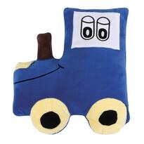 Poduszka profilowana Traktor niebieski, 45 x 30 cm