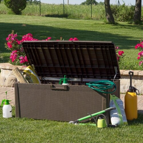 Záhradný úložný box Santorini Plus hnedá, 560 l