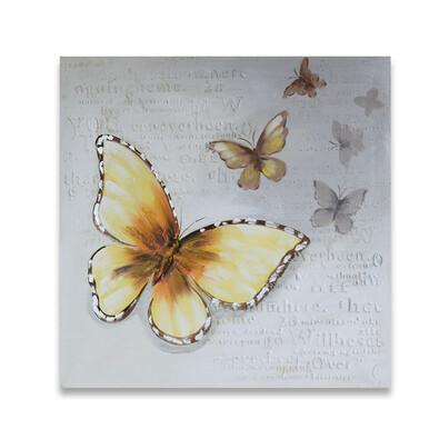 Obraz na płótnie Butterflies, żółty