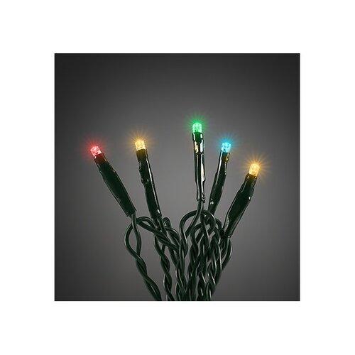 Vianočná svetelná reťaz 40 LED, 6 m, farebná