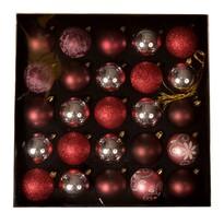 Set decorațiuni Crăciun Ornate, roșu, box 25 buc.