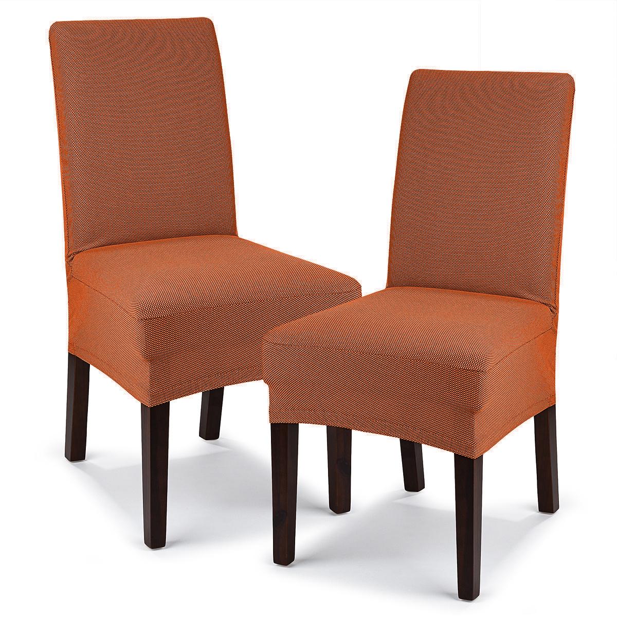 4Home Husă elastică scaun Comfort teracota, 40 - 50 cm, set 2 buc imagine