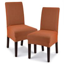 4Home Husă elastică scaun Comfort teracota, 40 - 50 cm, set 2 buc