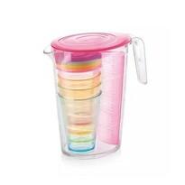 Tescoma Džbán s poháry myDRINK 2,5 l, růžová