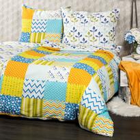 4Home Krepové obliečky Patchwork blue , 160 x 200 cm, 70 x 80 cm