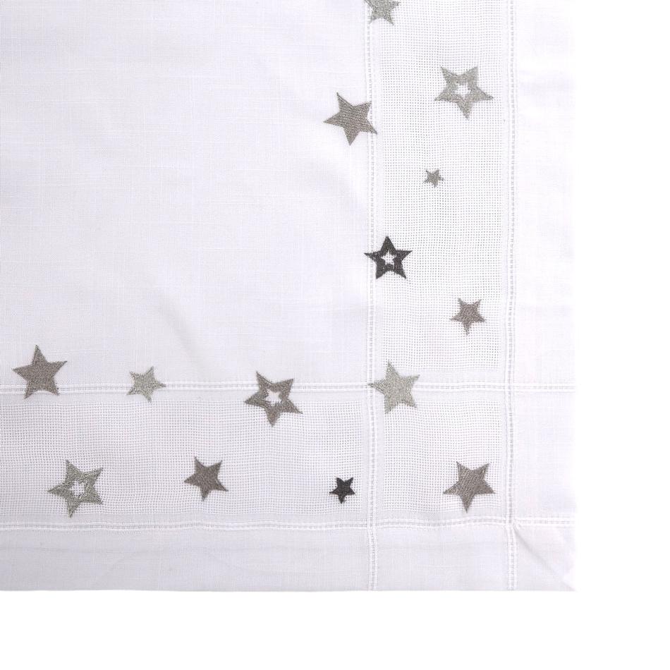 Altom Vánoční ubrus hvězda stříbrná, 80 x 80 cm