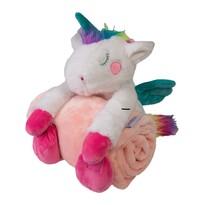 Pătură de copii Carol, cu jucărie din pluș unicorn, 85 x 100 cm