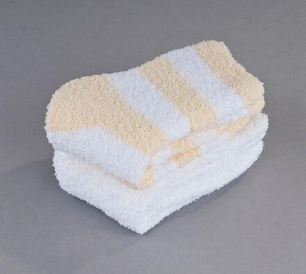 Sada 2 párů ponožek na spaní Batepo, sv. žlutá, bílá + žlutá