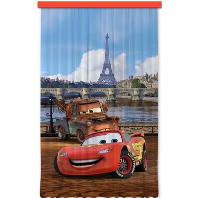 Dětský závěs Cars in Paris, 140 x 245 cm