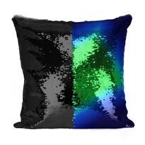 Domarex Poszewka na poduszkę z cekinami Flippy niebieski, 40 x 40 cm