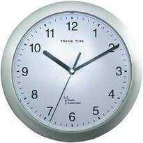 Analogové DCF nástěnné hodiny stříbrná