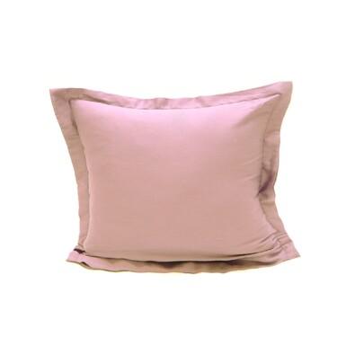 Povlak na polštářek s lemem satén světle fialová, 50 x 70 cm