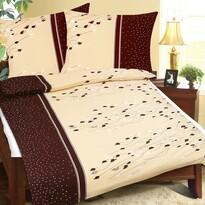 Bellatex Krepové obliečky Lupienky hnedá, 140 x 200 cm, 70 x 90 cm