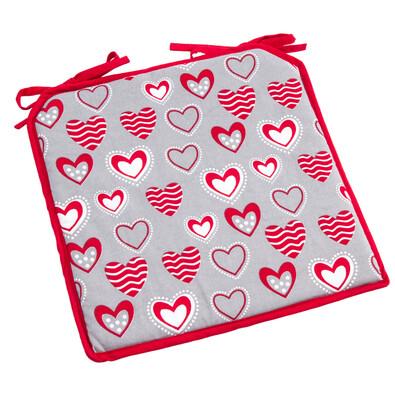 Sedák Hearts, 40 x 40 cm