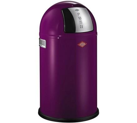 Wesco Pushboy Junior odpadkový koš 22l fialový