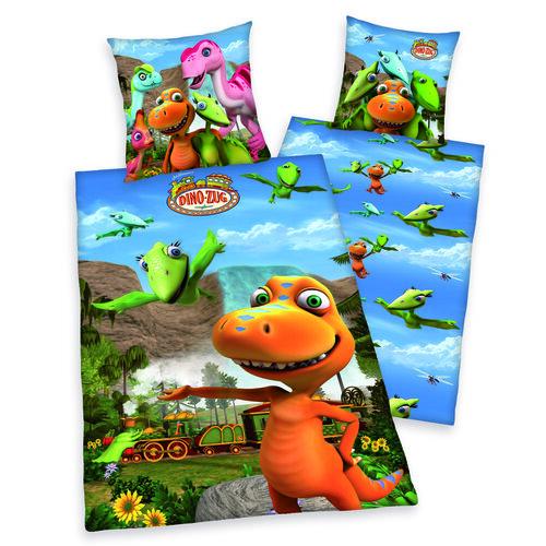 Dětské bavlněné povlečení Dino-Zug, 140 x 200 cm, 70 x 90 cm
