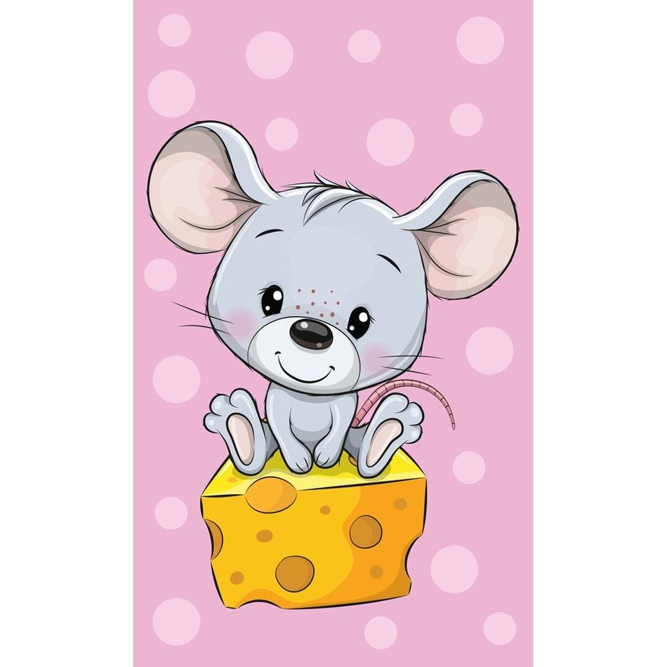 Carbotex Dětský ručník Myška a ementál, 30 x 50 cm