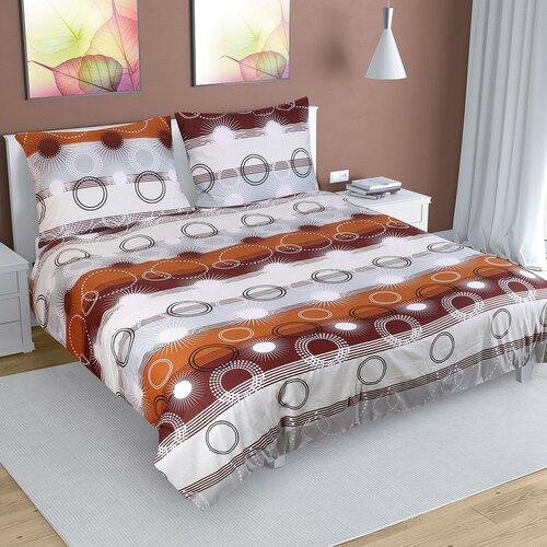 Bavlnené obliečky Lúče hnedá, 240 x 200 cm, 2 ks 70 x 90 cm
