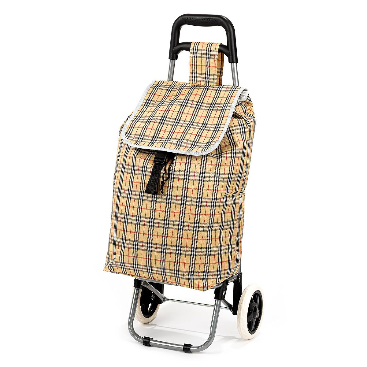Nákupná taška na kolieskach Kocka, béžová