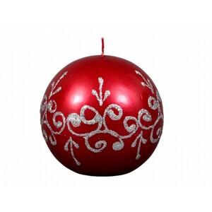 Vánoční svíčka Tiffany koule, červená
