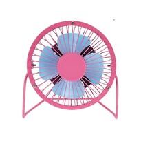 USB ventilátor, rózsaszín, 13,5 x 11 x 15 cm