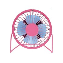 Ventilator USB roz, 13,5 x 11 x 15 cm