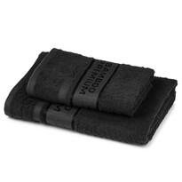 4Home Sada Bamboo Premium Ręcznik kąpielowy i łazienkowy, czarny, 70 x 140 cm, 50 x 100 cm
