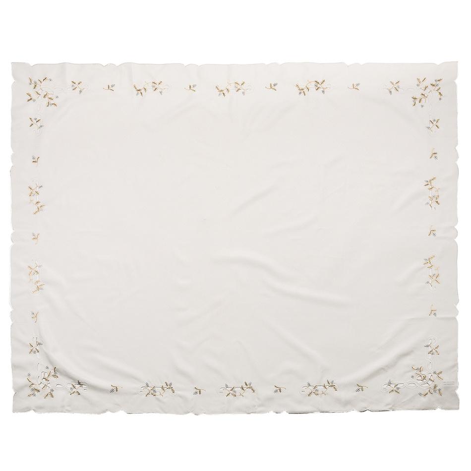 Vánoční ubrus jmelí krémová,, 120 x 140 cm