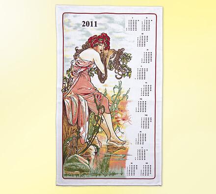 Textilní kalendář Panna 2011, vícebarevná, 50 x 70 cm
