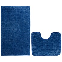 AmeliaHome Set de covorașe baie Bati albastru închis, 2 buc 50 x 80 cm, 40 x 50 cm