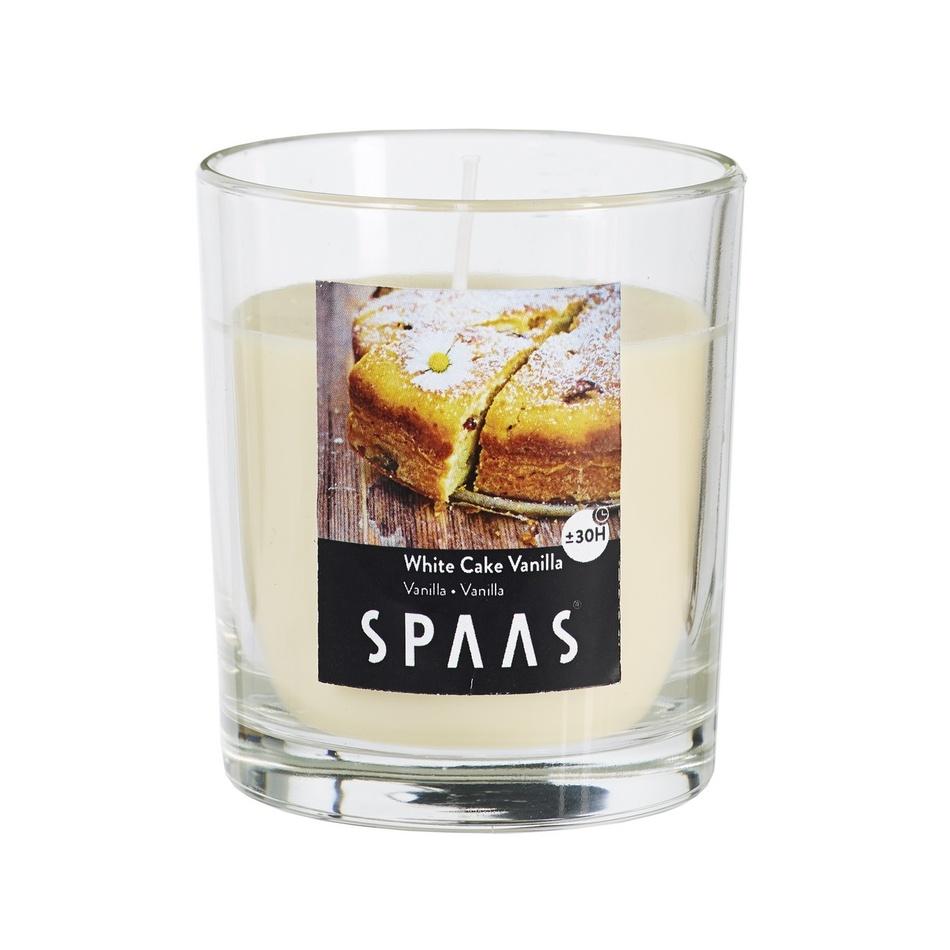 SPAAS Vonná sviečka v skle White Cake Vanilla, 7 cm, 7 cm