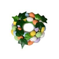 Wielkanocny wieniec ozdobny z jajkami, 16 cm