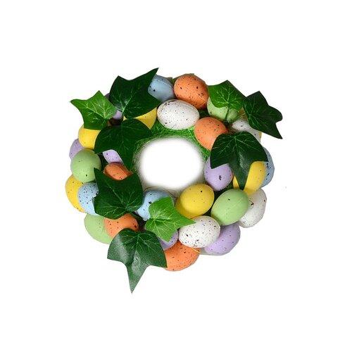 Veľkonočný ozdobný veniec s vajíčkami, 16 cm