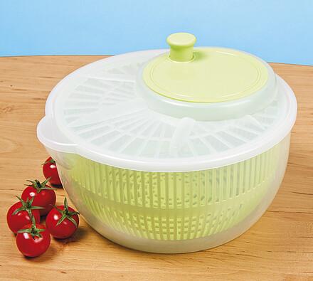 Praktická odstředivka na salát, bílá + zelená