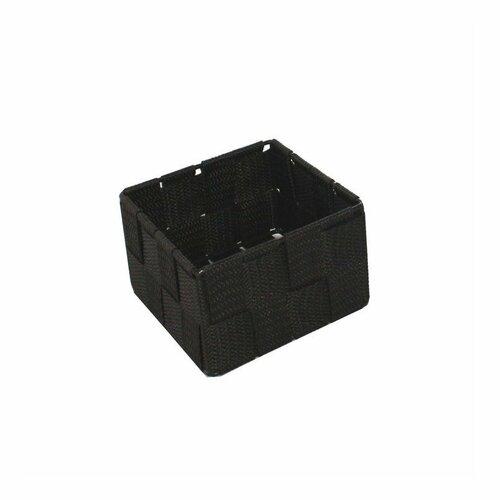 Compactor Úložný organizér do zásuvky Compactor TEX - košík S, 12 x 12 x 7 cm, čokololádový