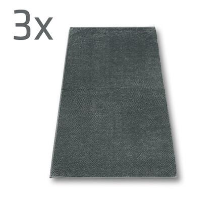 Ručník s.Oliver šedý, 50 x 100 cm, sada 3 ks, šedá, 50 x 100 cm