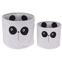Hatu Panda dekorkosár szett, 2 db-os