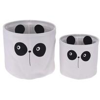 Zestaw dekoracyjnych koszyków Hatu Panda, 2 szt.