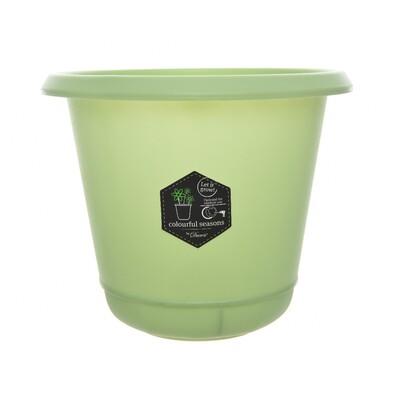 Pastels műanyag virágtartó zöld, 22 cm