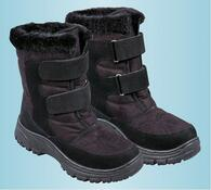 Zimní obuv s kožíškem, černá, 38