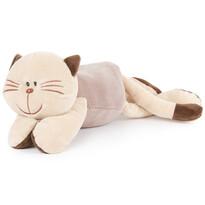 Pisică din pluș, culcată, 18 cm