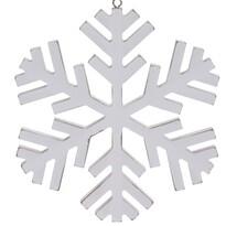 Foligno karácsonyi függődísz, fehér