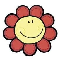 Suport de bucătărie Floarea Soarelui, roșu, 10 x 10 cm