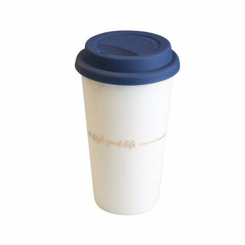 Fotografie Altom Porcelánový termohrnek na kávu Good Life, 400 ml